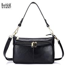 купить BRIGGS Brand Messenger Bags Women Designer Vintage Shoulder Bag Ladies Genuine Leather Handbags Classic Female Crossbody Bags по цене 2344.07 рублей