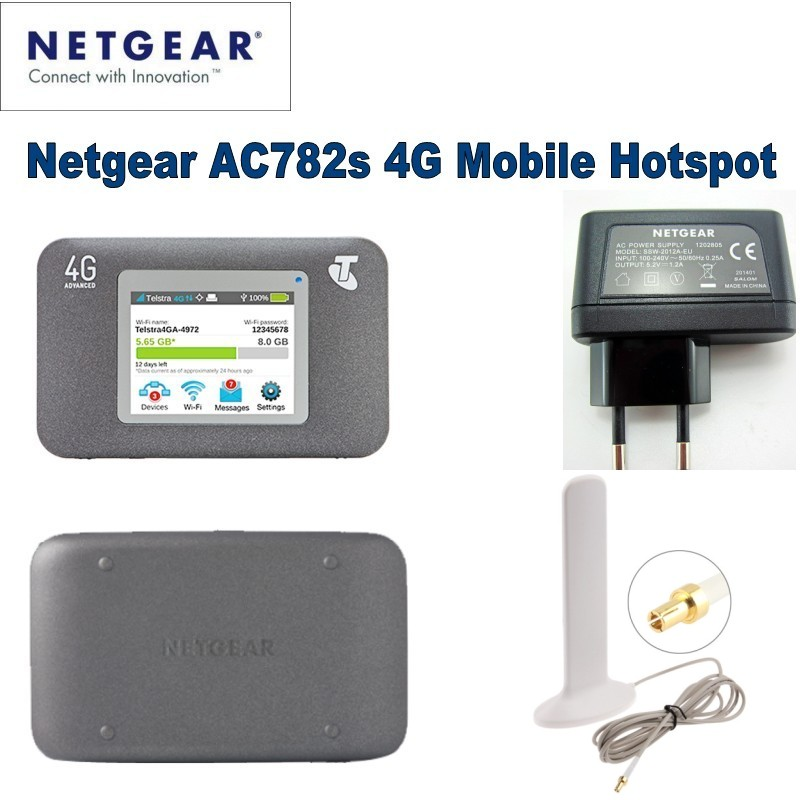 Unlocked Netgear Aircard AC782S 4G Mobile Hotspot LTE WiFi Modem Router+ antenna american pendant lights country retro iron forest antlers nordic creative restaurant small living room bar dining room lu725235