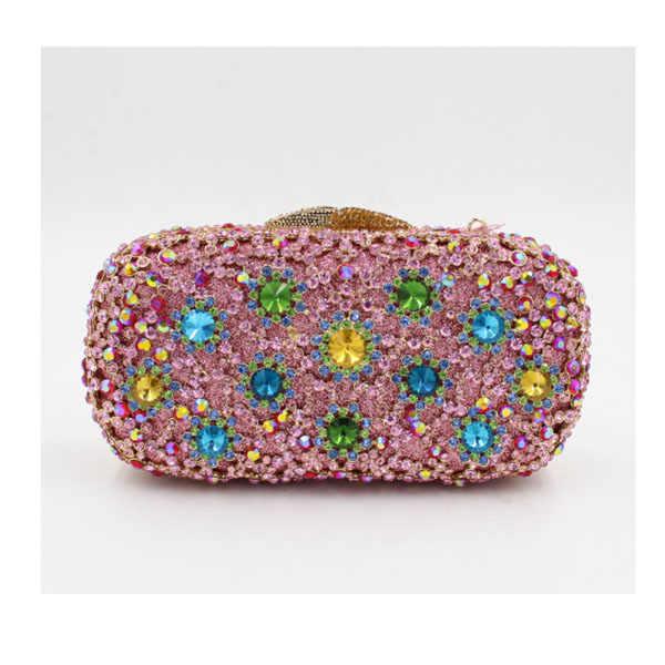 XIYUAN MEREK Kristal Mewah prom klub malam Evening Bag Designer Wedding Party Wanita Clutch Bag Tas pesta Wanita Tas pink
