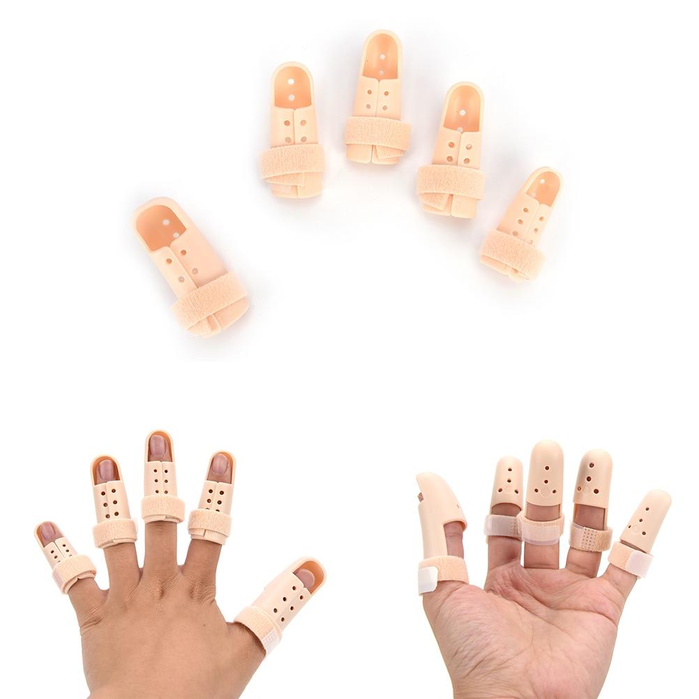 Hot 1Pc Plastic Hand Finger Splints Support Brace Mallet Splint for Broken Finger Joint Fracture Pain Protection Adjustable Hook