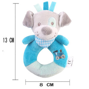 Image 2 - JMao Baby Toys 0 12 Months Animal Rattles Soft Plush Baby Toys Hand Bell Mobile Rattle Early Educational Toy Cartoon Kids Gift