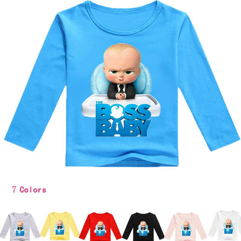 YLS 2-16Years Nununu Baby Boss Kids Clothes Boys Tshirt Long Sleeve Girl  Tops T 5ada754e393a
