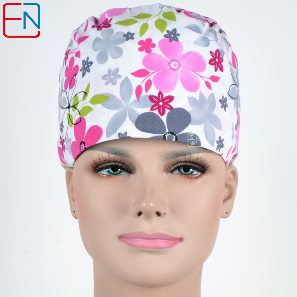 Hennar Scrub Caps Medical Clinic Surgical Womens Scrubs Caps Adjustable Nursing Uniforms Accessories Caps For Hospital Doctor