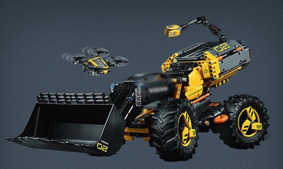 Technologie de Legoings Compatible Volvo Concept chargeuse sur pneus ZEUX modèle blocs de construction briques Kits jouets - 5