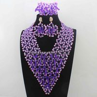 New Fashion Baby Pink/Purple Lace Indian Bridal Women Jewelry Set Statement Chunky Necklace Set for Wedding Free shipping HD8228