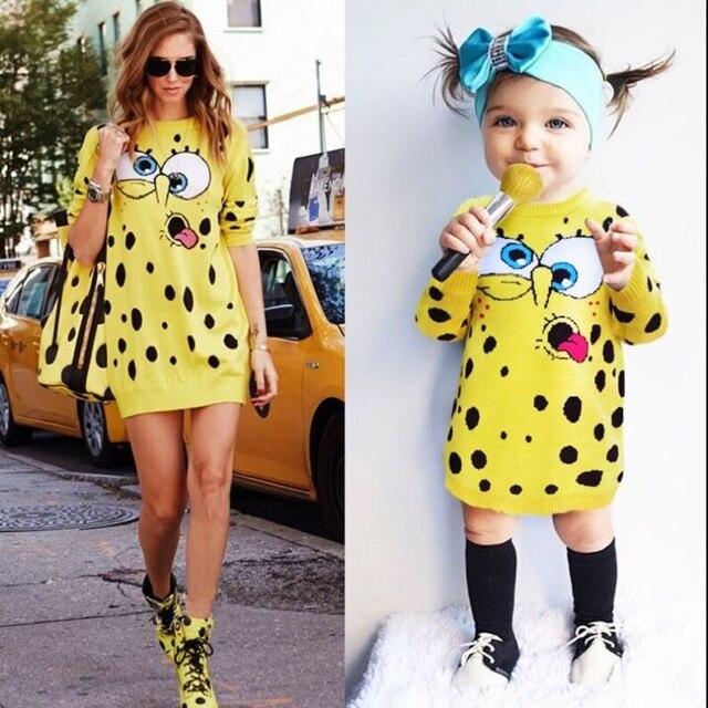 Baby SpongeBob Kleider Für Mädchen Mutter Tochter Pullover Familie ...
