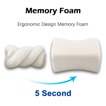 Car Back Massage Pillow Auto Seat Waist Cushion for BMW Golf Volvo Universal Lumbar Support Pillows for Chairs Car Accessories 1