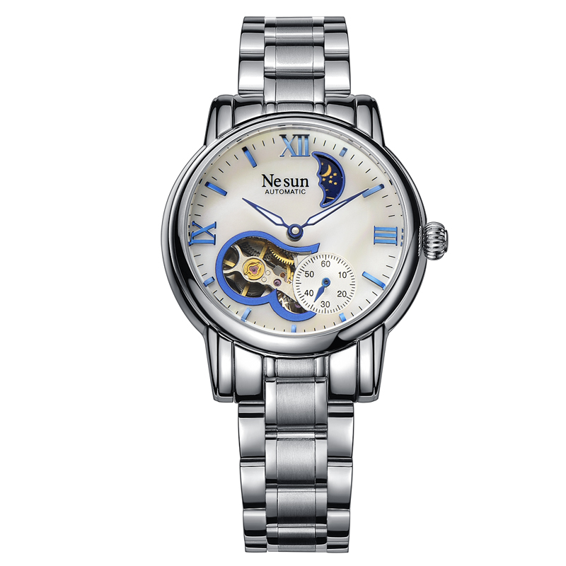 Здесь продается  Switzerland New Luxury Brand Nesun Hollow Women Watch Automatic Self-Wind Stainless steel Clock Waterproof Watches women N9061-4  Часы