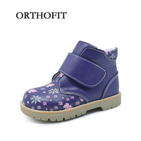 Popular 3 To 6years Old Age Kids Girls Cute Print Leather Shoes Soft Orthopedic Children Casual