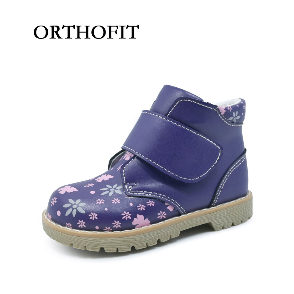 Popular 3 to 6years old age kids girls cute pu synthetic leather shoes , soft orthopedic children casual shoes