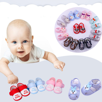 Cute baby newborn cotton soft baby shoes boy girl cartoon style anti-slip toddler shoes infant baby first walker 2019 new style
