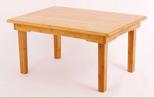 Contemparay Bamboo Table Legs Foldable Natural Finish Living Room Furniture Small Center Wooden Accent Sofa Side Coffee Table