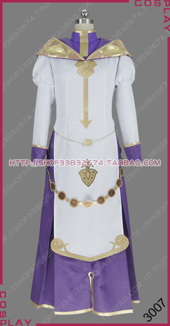 Fire Emblem Echoes: Shadows of Valentia Cleric Silque Silk Outfit Dress Cosplay Costume S002