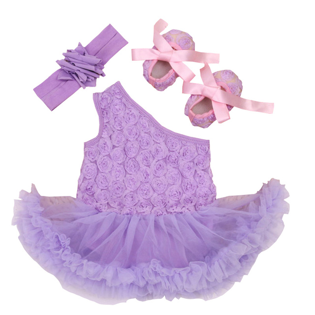 2016 nuevo vestido del bebé de algodón de alta calidad 0-2 años del bebé hembra hombro de tres piezas vestido de Kazajstán niños climb ropa w