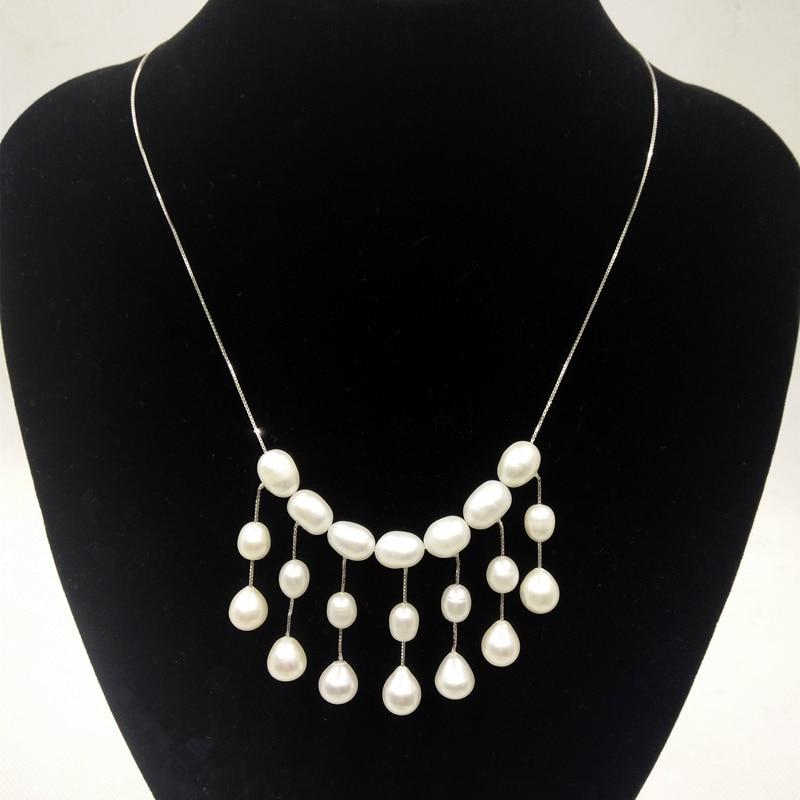 modni dizajn stvarnog 925 srebra od prirodnog bisera žene ogrlica od - Fine nakit - Foto 3