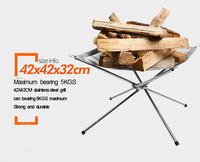 Outdoor Portable Folding Stainless Steel Burn Solid Fuel Frame Ultralight Fast Heating Stove Wood Charcoal Fire
