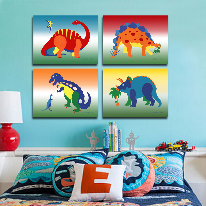 Fashion Cartoon Dinosaur Pictures Home Decorations For