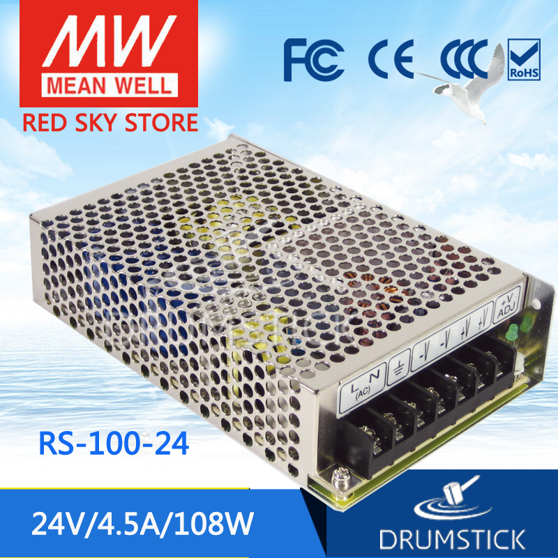(12.12)MEAN WELL RS-100-24 24V 4.5A meanwell RS-100 24V 108W Single Output Switching Power Supply [powernex] mean well original lrs 100 24 24v 4 5a meanwell lrs 100 24v 108w single output switching power supply