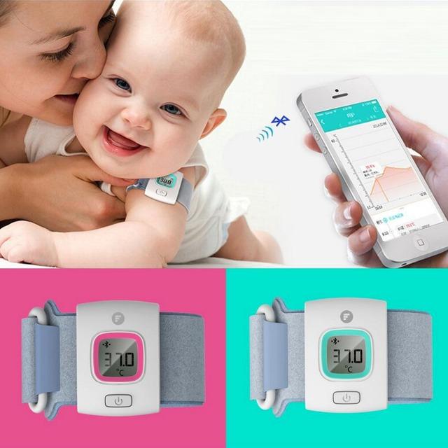 Anel inteligente mão Wearable Bluetooth relógio termômetro eletrônico bebê termômetro do bebê termômetro