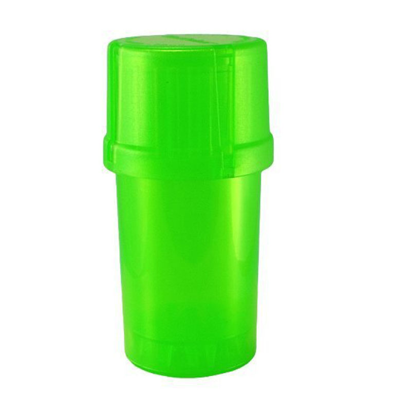 400pcs/lot Plastic Grinder Medical Grade Plastic Smell Tobacco Herb plastic case 3 layers Grinder crusher smoking accessary