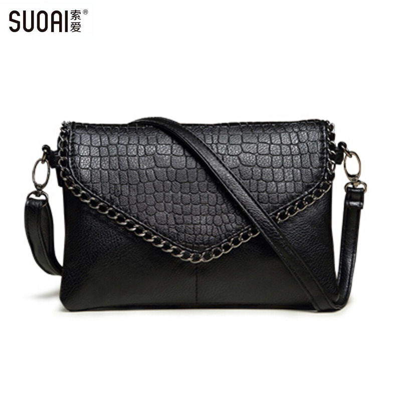 SUOAI 2016 New Small Bag Fashion Messenger Bags For Women Soft Pu Leather Crossbody Bag Female Clutches Party Bag Dollar Price fashion small bag women messenger bags soft pu leather handbags crossbody bag for women clutches bolsas femininas dollar price