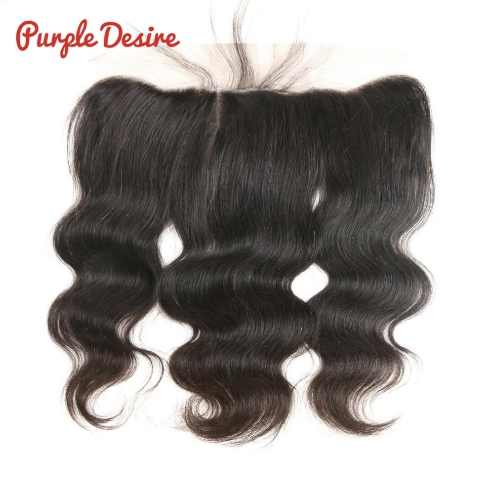 Brazilijos kūno bangos 13X4 ausies iki ausies nėrinių priekinis uždarymas 100% žmogaus plaukai 8-20 colių natūralios juodos spalvos Remy plaukai moterims