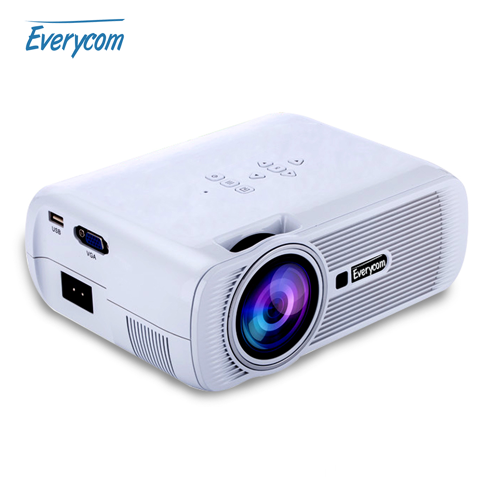 Prix pour Everycom x7a/x7s plus miracast airplay x7 wifi mini vidéo projecteur led ATV Beamer 1800 lumens portable lcd Home Cinéma HDMI