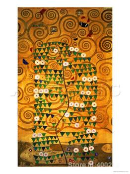 Gloden painting Sketch for the Stoclet Frieze detail Gustav Klimt reproductions Canvas Art High quality Hand painted