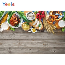 Yeele Oktoberfest Carnival Beer Fruits Foods Wheat Photography Backdrops Personalized Photographic Backgrounds For Photo Studio
