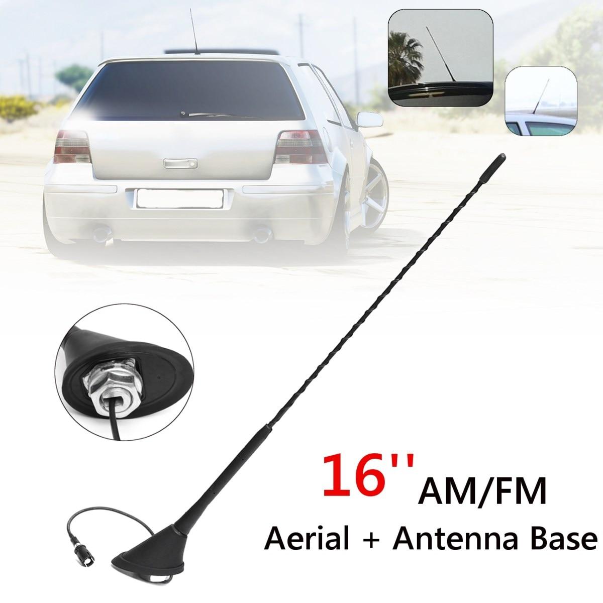 16 pouce Universal AM/FM Antenne Antenne Toit Mât Base Pour VW/Volkswagen/Skoda/Audi/ golf/Passat/Jetta/Bora MK4 1994 1995 1996