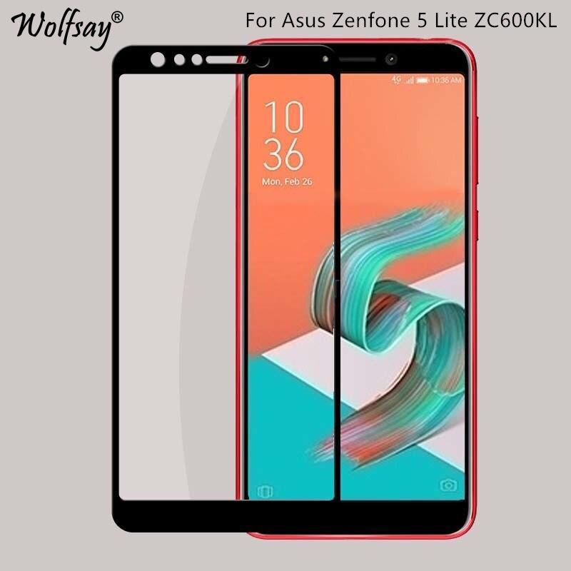 HD Full Cover Glass Asus Zenfone 5 Lite ZC600KL Screen Protector Anti-Explosion Tempered Glass For Asus Zenfone 5 Lite 5Q X017DA