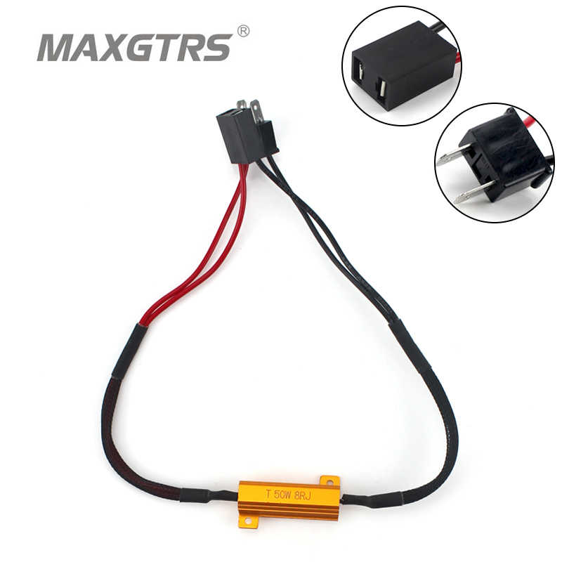 2x H1 H3 H4 H7 H8 H11 9005 9006 LED Fog Light DRL Headlight Canbus 50W Load Resistor Wiring Canceller Canbus ERROR FREE Decoders