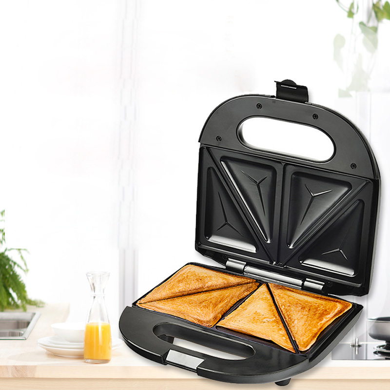 LSTACHi Home Mini Triangle Sandwich Maker 220V Bread Toaster Personal Breakfast Machine Frying Egg Tool Stainless Steel 750WLSTACHi Home Mini Triangle Sandwich Maker 220V Bread Toaster Personal Breakfast Machine Frying Egg Tool Stainless Steel 750W