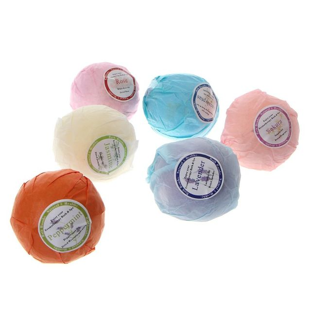 Organic Bath Bombs Bubble Bath Salts Essential Oil Handmade SPA Stress Relief 1