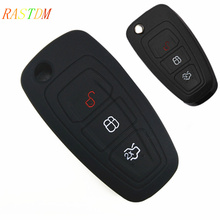 1 Silicone car smart key cover remote bag fit for Ford Focus 3 MK3 ST RS Ecosport kuga escape New fiesta , Buttons
