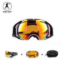 Skiing Eyewear Unisex Double Lens UV400 Anti-Fog Big Spherical Skiing Glasses Snow Ski Goggles Snowboard Eyewear Mask