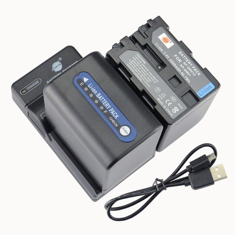 DSTE 2PCS NP-QM91D NP-QM91 Li-ion Battery + UDC01 USB Port Charger For Sony DCR-TRV24 TRV240 TRV240K TRV245E TRV24E TRV25 Camera dste 2pcs np f970 np f970 battery for sony dcr vx1000 vx2000 vx2100 vx2200e vx700 dsc cd100 cd250 cd400 d700 d770 camera