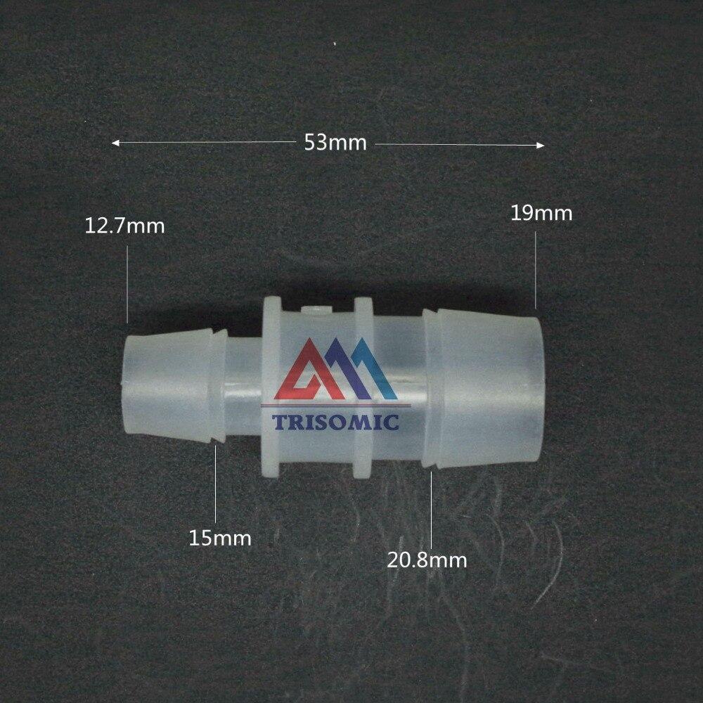 Sanitär 19mm Gerade Reduzierung Verbindungskunststoffrohr Fitting Barbed Reduzierung Stecker Aromatischer Geschmack 12,7mm