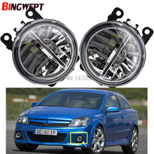 2x Car Exterior Accessories White 6000K LED Fog Lamps Light For OPEL ASTRA H GTC 2005-2015