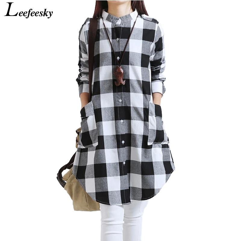 Online Get Cheap Plaid Checked Shirt Women -Aliexpress.com ...