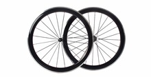Carbon Wheelset Alloy brake Surface Clincher With Powerway R36 Hub CN Aero Spokes