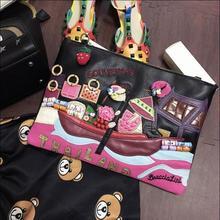 Braccialini gleichen designer frauen aus echtem leder hülle tasche tag kupplung vintage handtasche adrette casual bag stadt straße