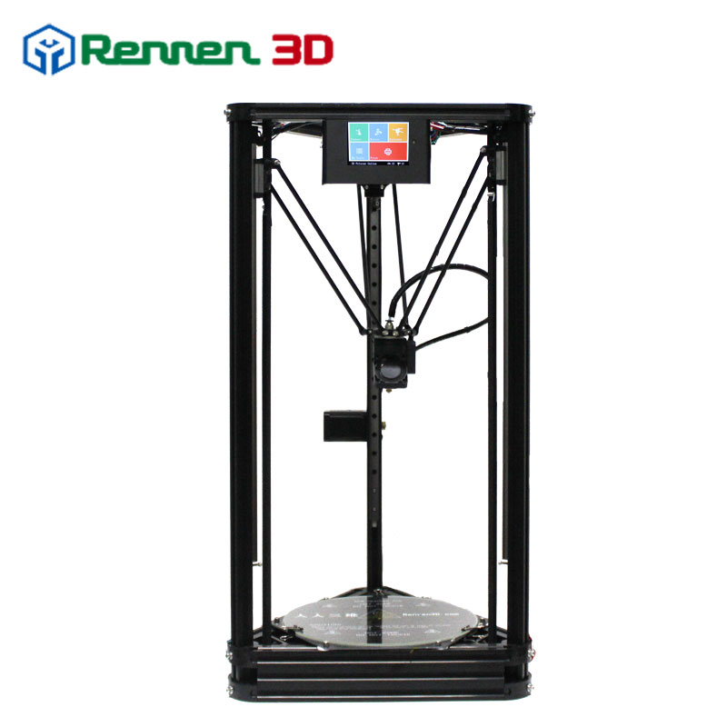 High Precision 3d Priter Kit 3 D Delta 3D Printer DIY Pro Auto Level Kossel Reprap Prusa 3D-Printer Machine Hot Bed Injection micromake 3d printer pulley version diy kit metal 3d printer kossel delta with 8g sd card and test materials