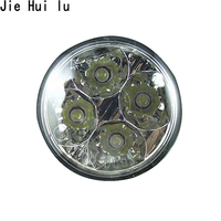 1 Pair High Quality 4LED 12 24V Car Auto White Round Off Road Led DRL Daytime