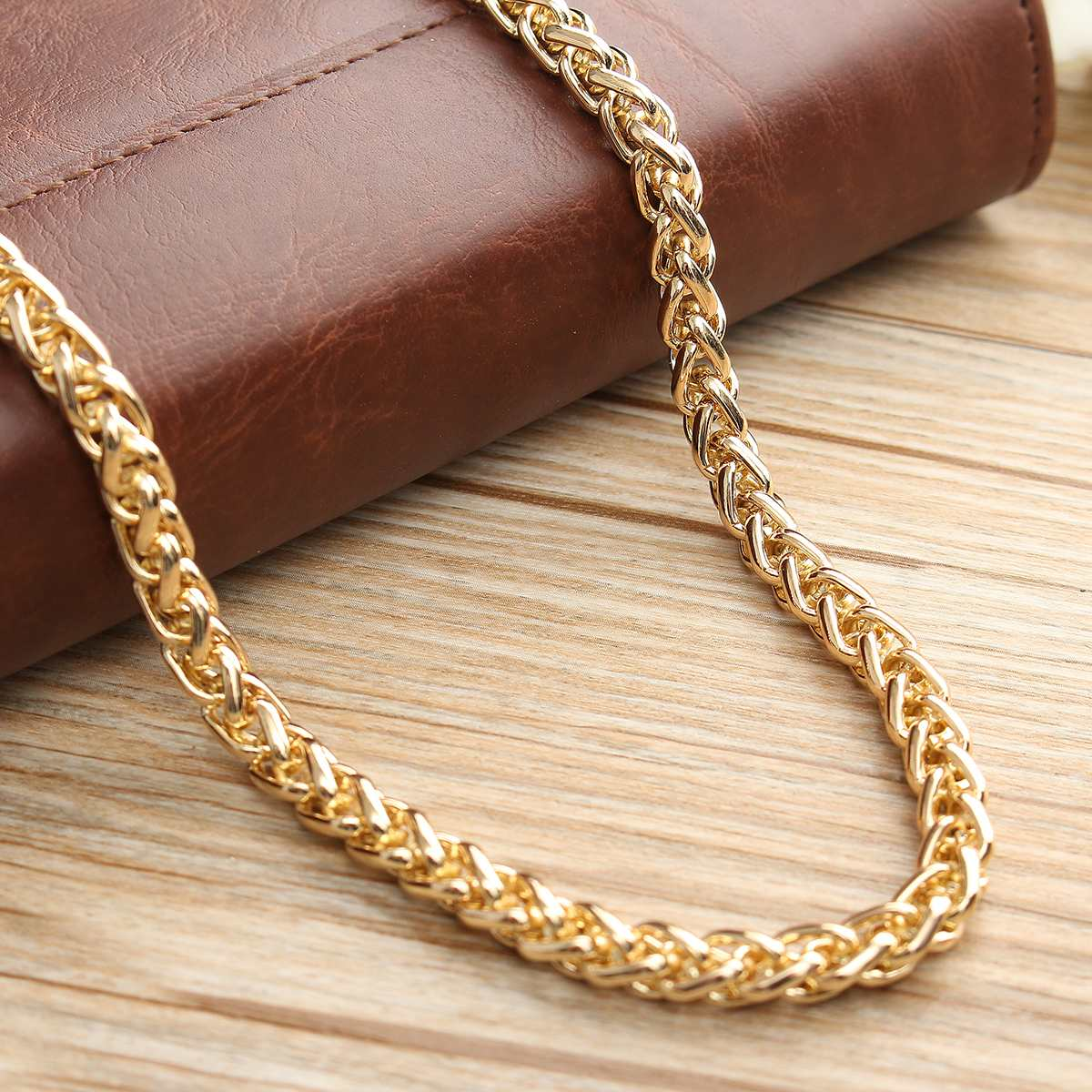 100cm Chain Straps Metal DIY Bag Accessories Parts Stainless Steel Crossbody Bag Strap Replacement Strap Long Belts Bands