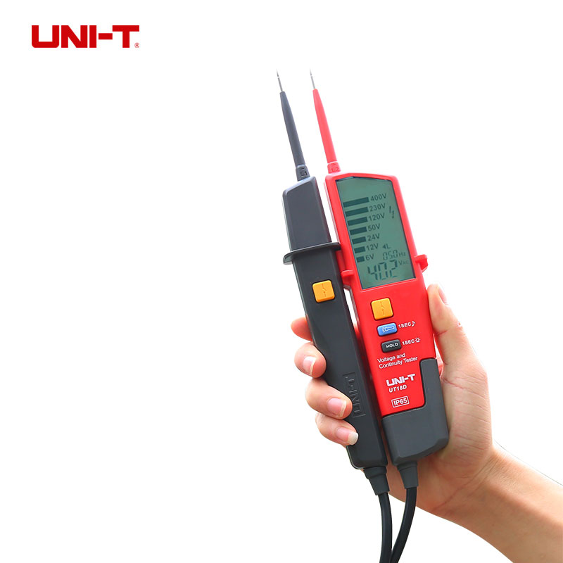 UNI-T UT18A Voltmeter 690V AC DC Voltage Meter Waterproof Test Pen LED Indication Auto Range Worklight Free Shipping  цены