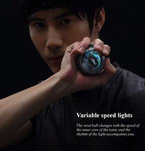 Image 5 - Xiao mi mi jia Yunmai Treinador De Pulso LED Gyroball jia Essencial Spinner Antebraço Exercitador Giroscópico Bola Giroscópio para mi mi kits de casa