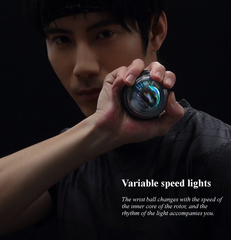 Image 5 - Xiaomi Mijia Yunmai Wrist Trainer LED Gyroball Essential Spinner Gyroscopic Forearm Exerciser Gyro Ball for Mijia Mi Home Kits-in Smart Remote Control from Consumer Electronics