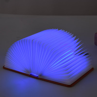 Free Shipping Creative Colorful Foldable Foldable Pages Led Book Shape Night Light Lighting Portable Booklight Usb