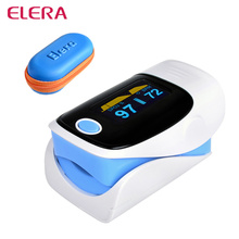 ELERA Alarm setting Health care Finger Pulse Oximeter Blood Oxygen Saturation Fingertip Oximetro Monitor With Case